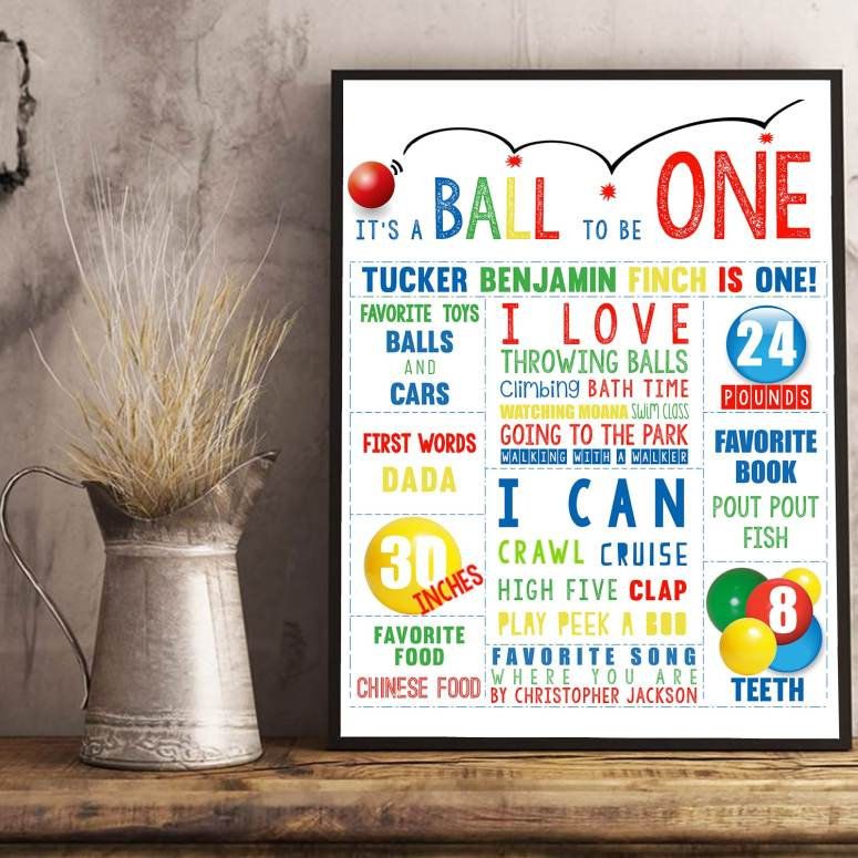Let's Have A Ball Party Decorations for a first birthday party