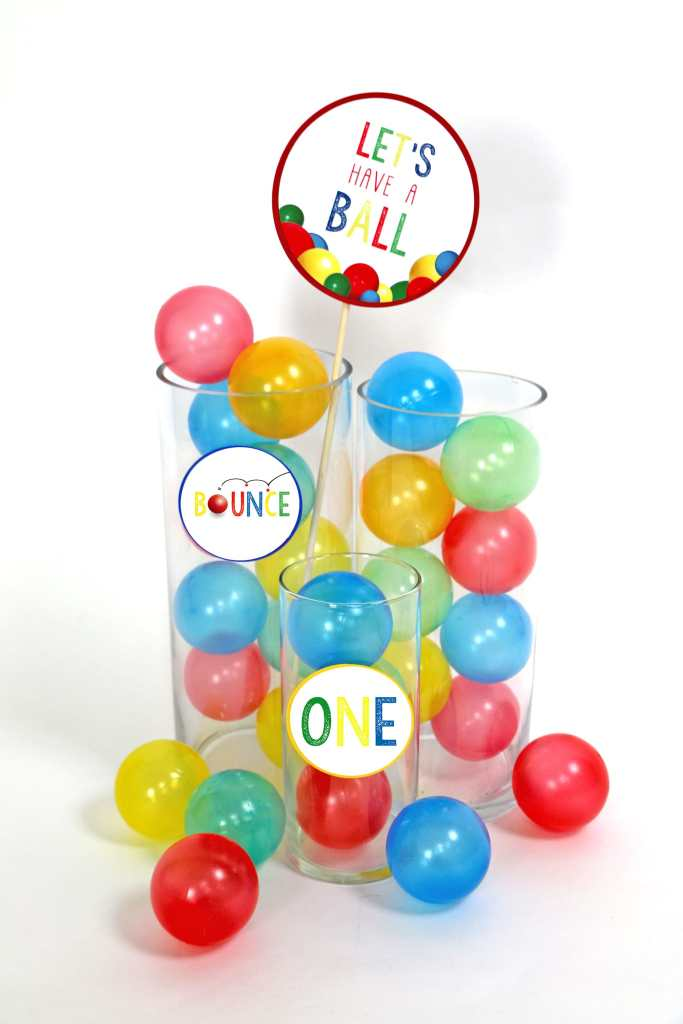 Let's Have A Ball Party Decorations: Ball Party Small Party Circles