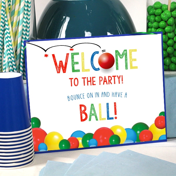 Ball Party Welcome Sign 8 x 10