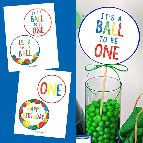 It's A Ball to Be One Large Party Circles Printables