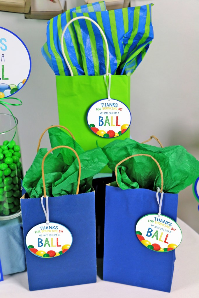 Let's Have A Ball Party Decorations: Favor tags