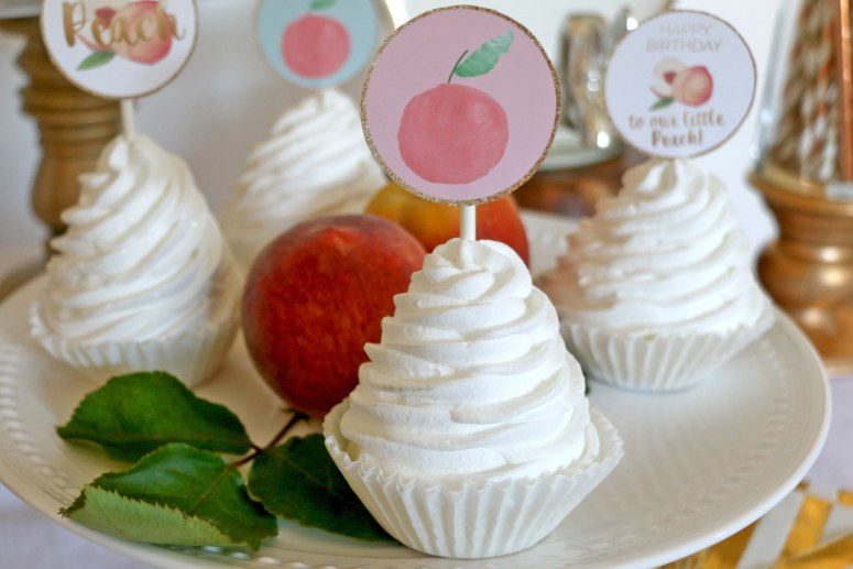 Sweet as a Peach Birthday Decorations Cupcake Toppers