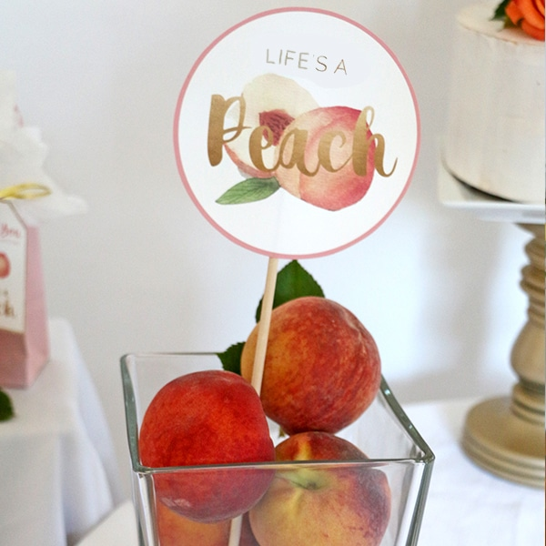 Peaches Birthday Party Centerpiece Decorations