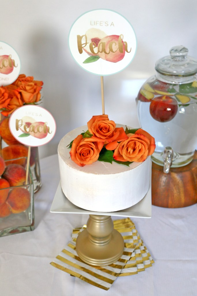Peaches Party Cake Topper