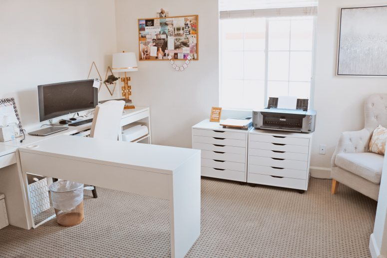 The Best Cricut Desk Setup And Paper Organization A Touch Of La