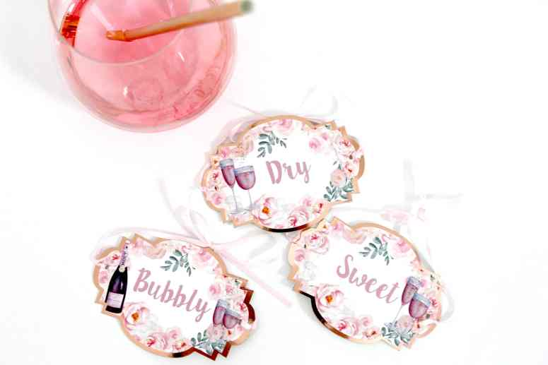 Rose All Day Bottle Tags