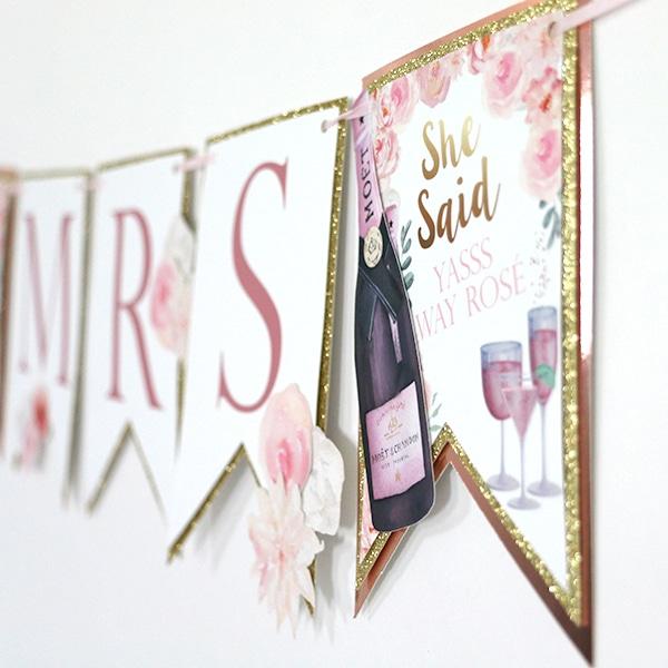 Rosé Bridal Shower: Miss to Mrs Banner