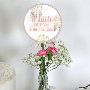 Bohemian Baby Shower Party Circles