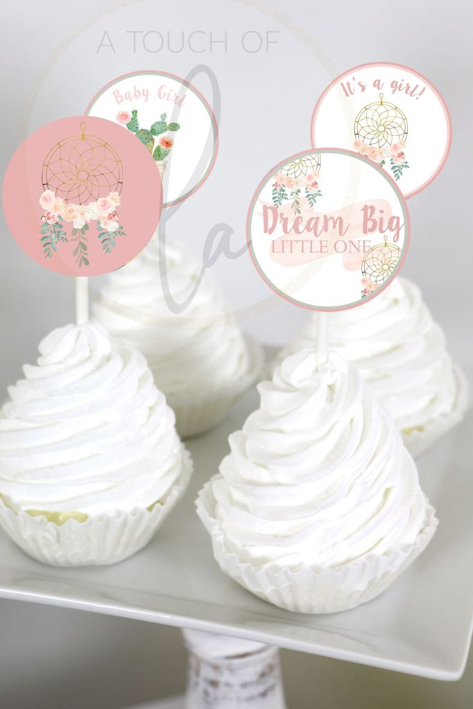 Dream catcher Cupcake Toppers