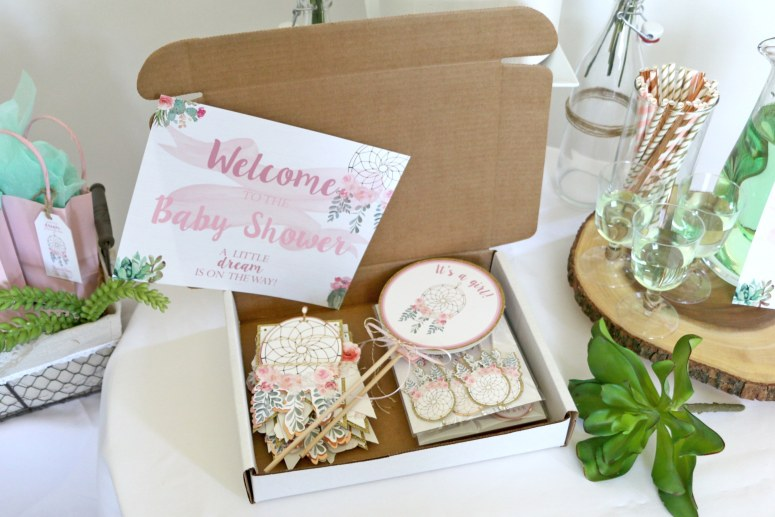 Bohemian Baby Shower Party In A Box