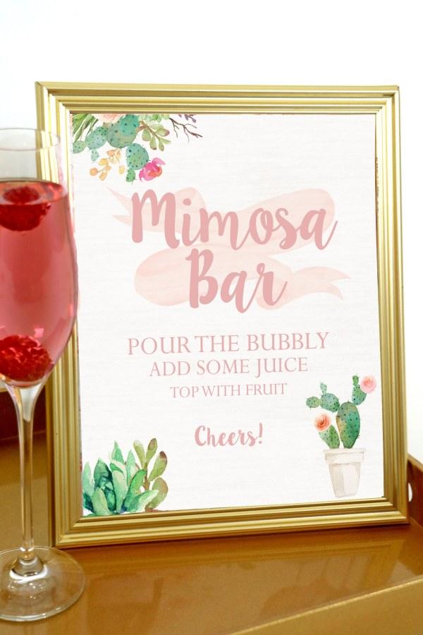 Bohemian Party Mimosa Bar Sign