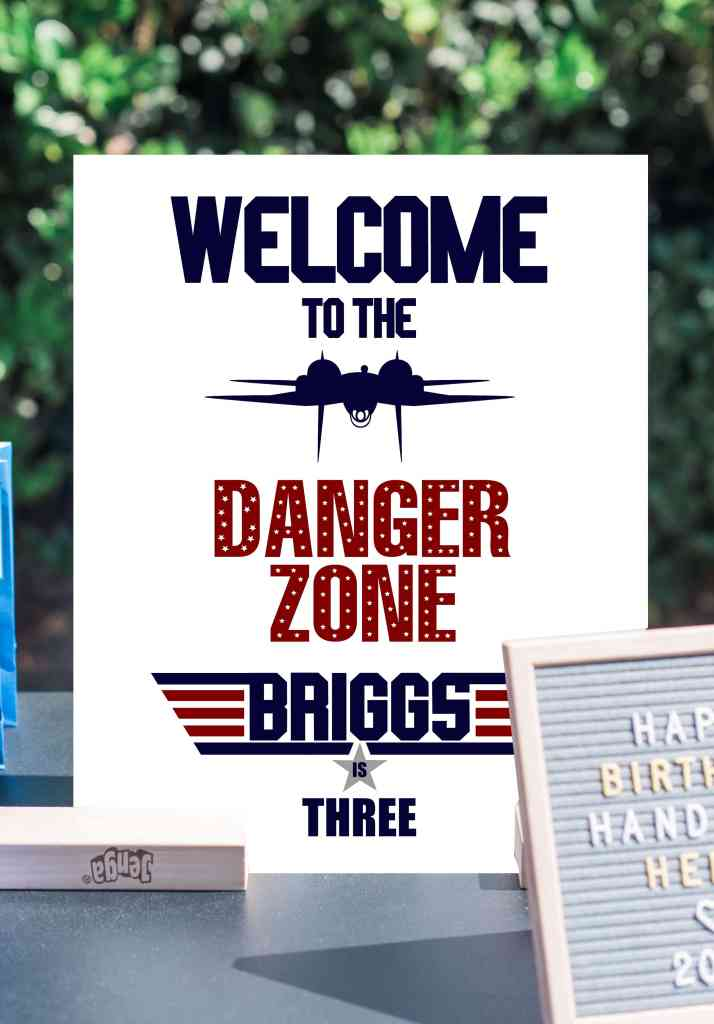 Welcome to the Danger Zone Custom Top Gun Sign