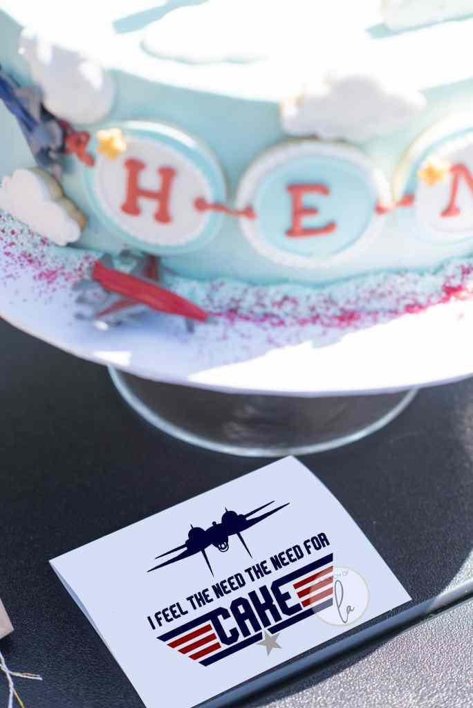 Top Gun Cake Sign