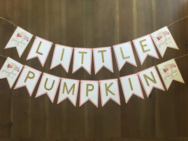 Little Pumpkin Printable Banner