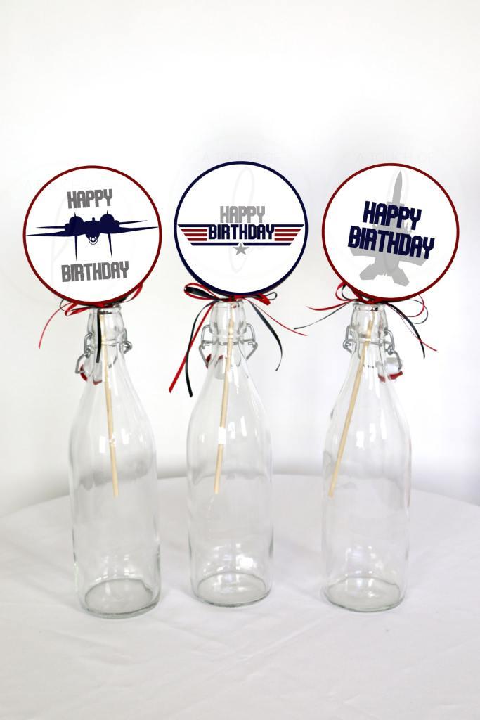 Top Gun Party Birthday Centerpiece Sticks