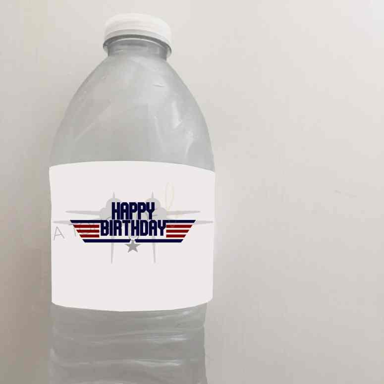 Top Gun Water Bottle Labels