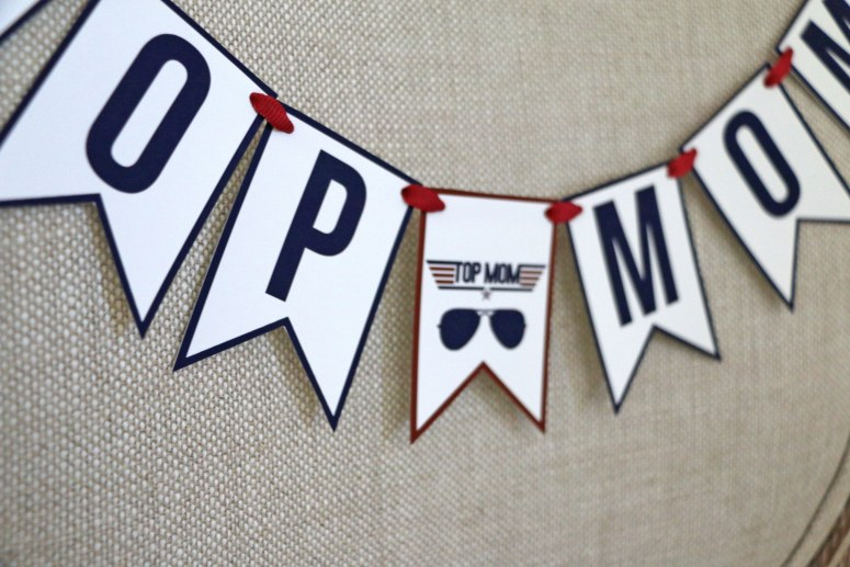 Top Mom Chair Banner for Top Gun Baby Shower