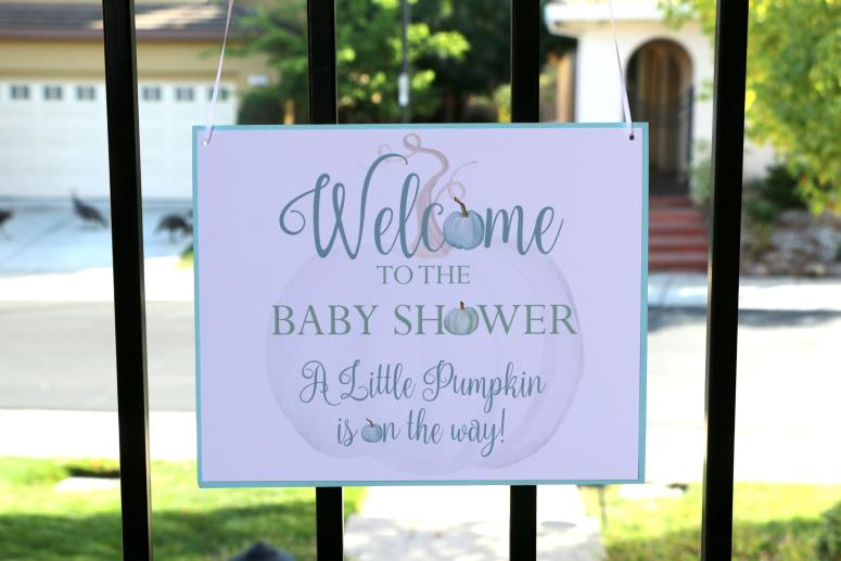 Little Pumpkin Baby Shower Ideas: Little Pumpkin Welcome Sign