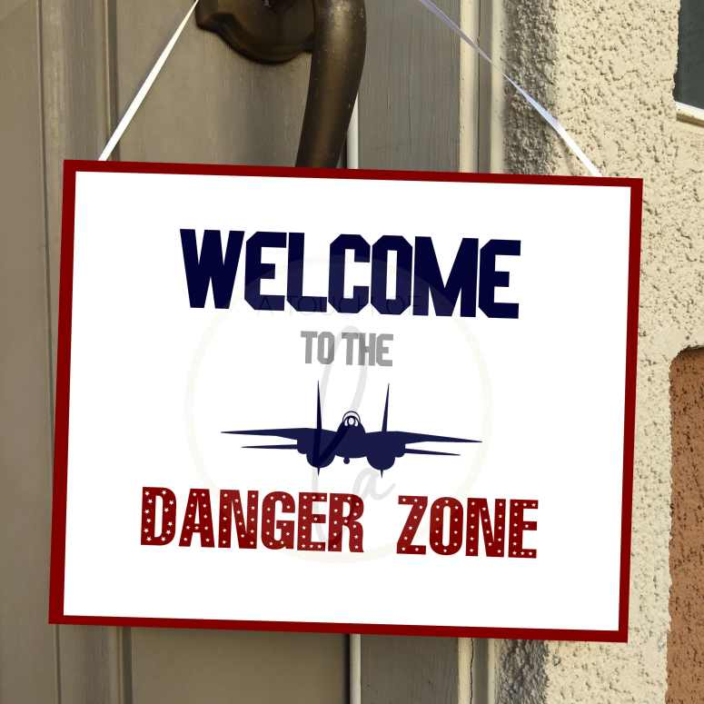 Welcome to the Danger Zone Party Decor