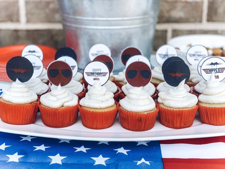 Top Gun Cupcake Toppers
