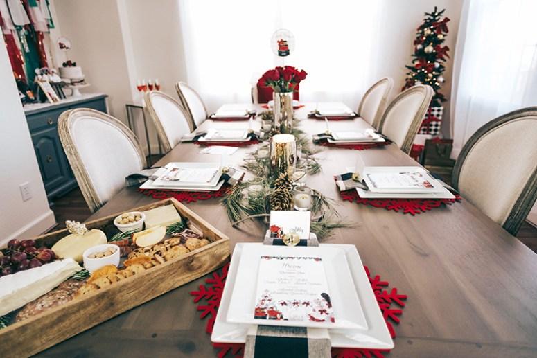 Christmas Party Table Setup Ideas