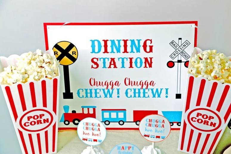 Train Party Supplies online: Dining Station Sign