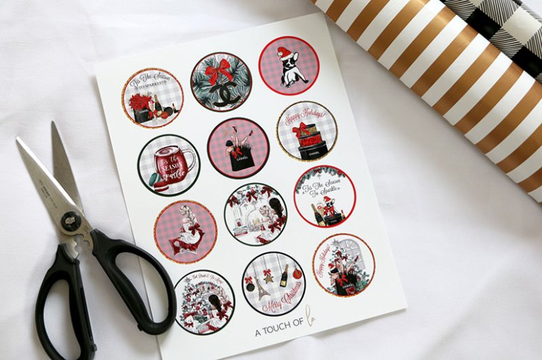 Printable Cupcake Toppers for Christmas party