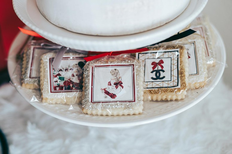 Custom holiday party cookies