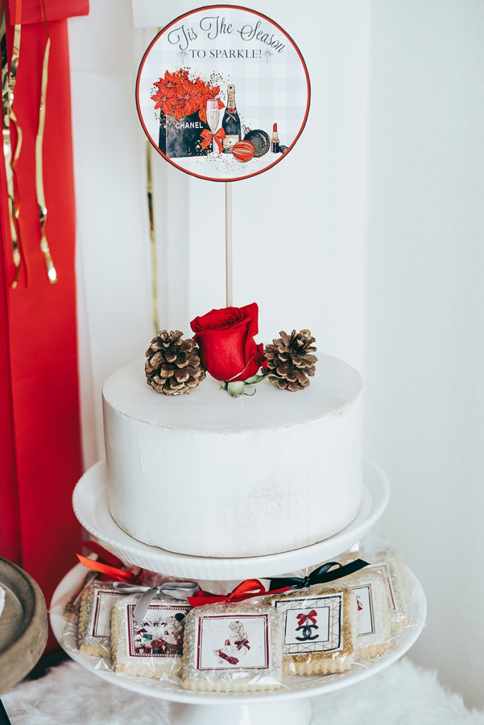 Holiday Party Dessert Ideas: Custom Cookies and Holiday Cake