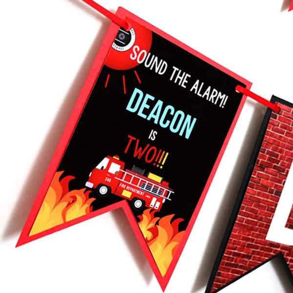 Firefighter Party Supplies: Firefighter Party Banner
