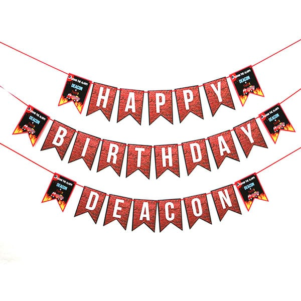Firefighter Party Supplies: Firefighter Birthday Banner