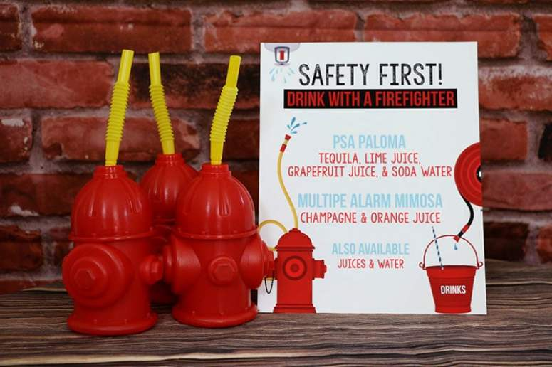 Firefighter Party Decor: Firefighter Birthday Party Signature Cocktail Menu