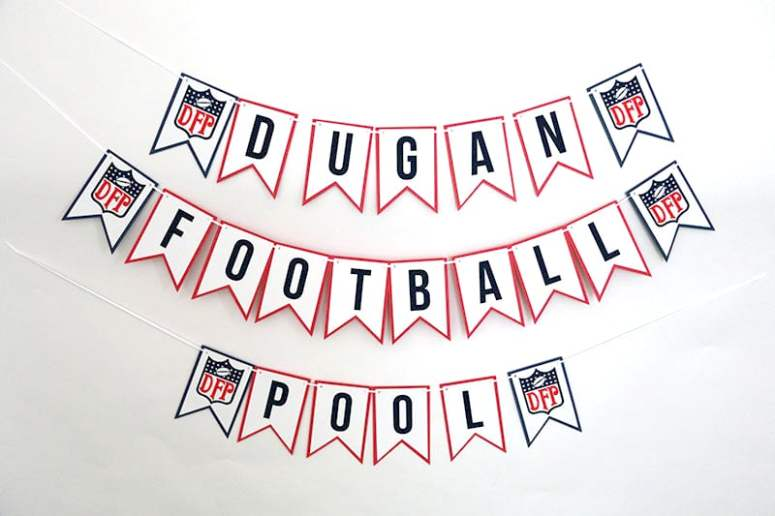 NFL Inspired Party Banner