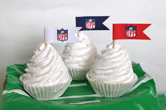 NFL Inspired Cupcake Toppers