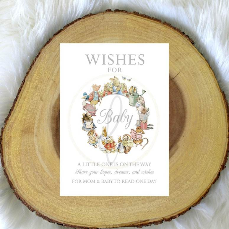 Peter Rabbit Baby Shower Wishes for Baby Game