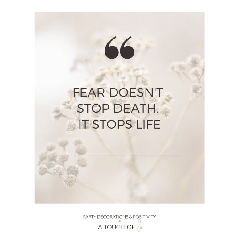 How We Can Overcome Fear in Our Lives: Fear Doesn't Stop Death it Stops Life