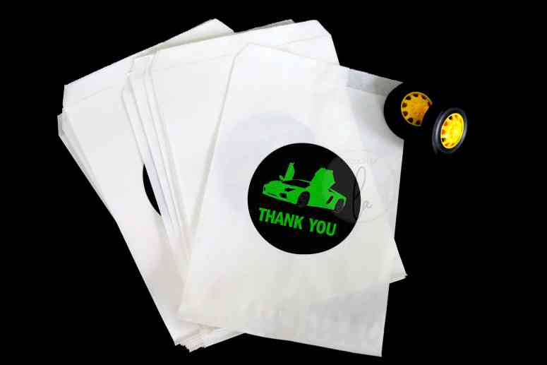 Green Car Party Stickers