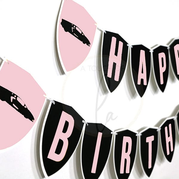 Pink-Supercar-Party-Banner