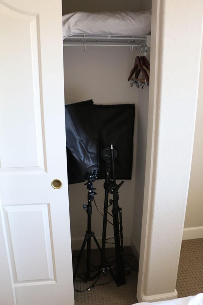 Storing in-Home Photography Studio Equipment
