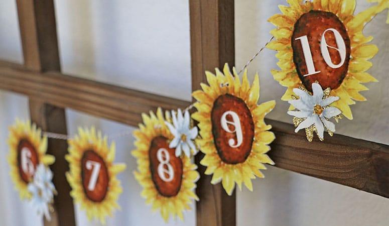 Sunflower Birthday Party Decorations: 1st Birthday