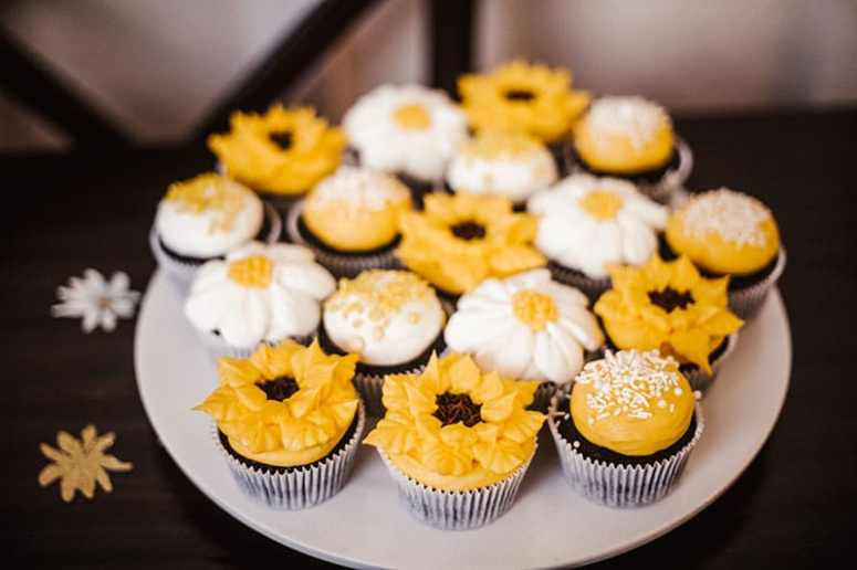 Sunflower Party Cupcakes