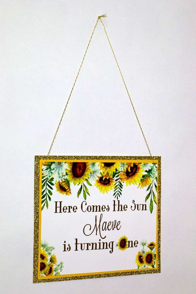 Sunflower Party Welcome Sign