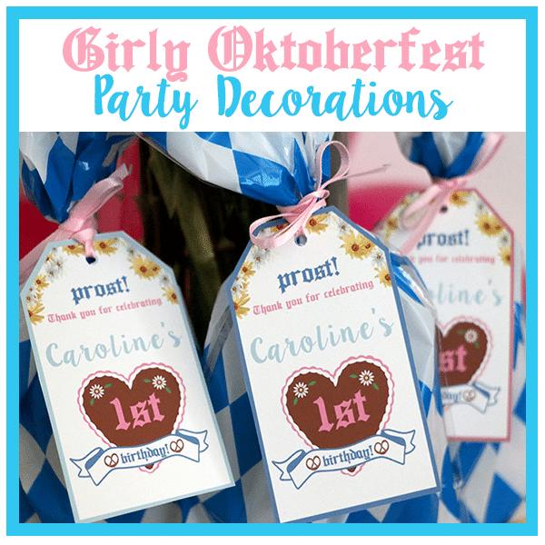 Girly Oktoberfest Party Decorations