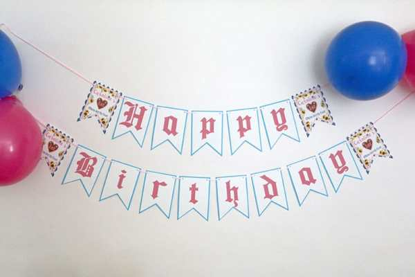 Pink and Blue Oktoberfest Party Banner