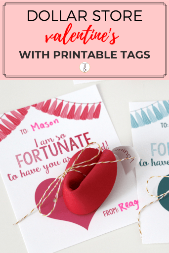 Dollar Store Valentine's with Printable Tags