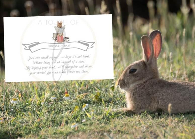 Peter Rabbit Baby Shower Book Card