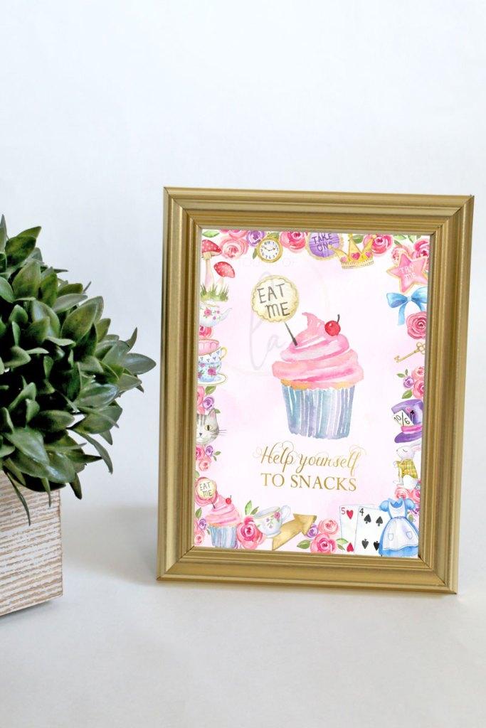 Alice-In-Wonderland-Snacks-Sign-5-x-7
