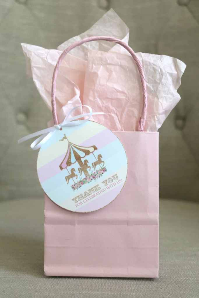 Make Adorable Girls Birthday Tags with Your Cricut: Carousel Party Favor Tags