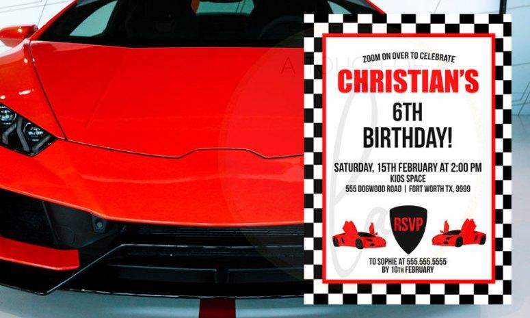 Editable-Red-Supercar-Invitation