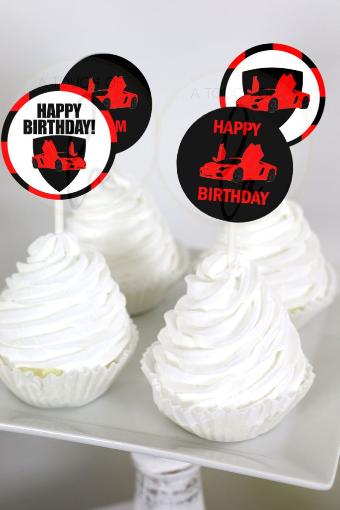 Red-Supercar-Cupcake-Toppers